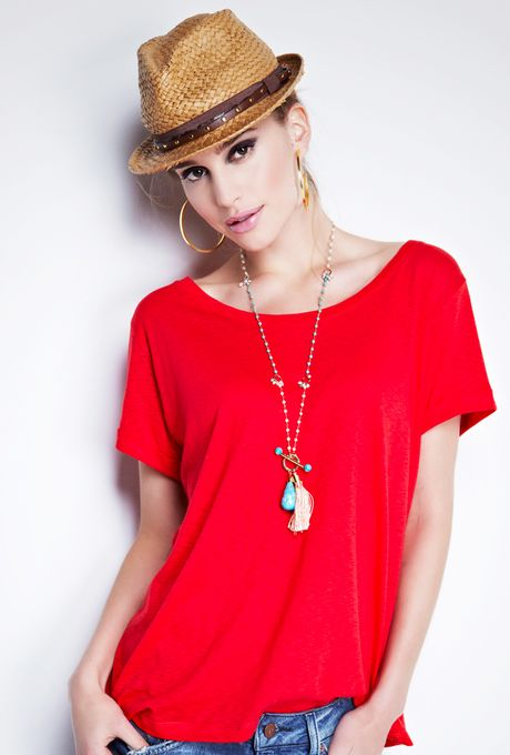 Camiseta-Sorrento-vermelha
