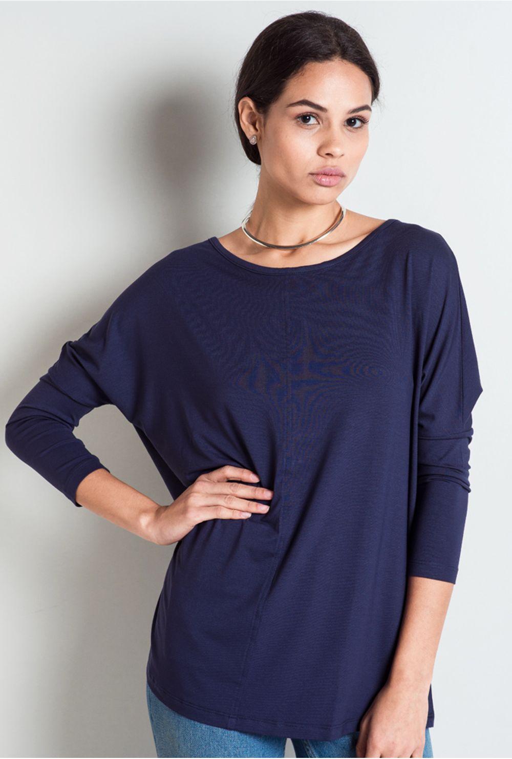 1ff7dadc2 Blusa Básica Feminina Hungria Azul Marinho