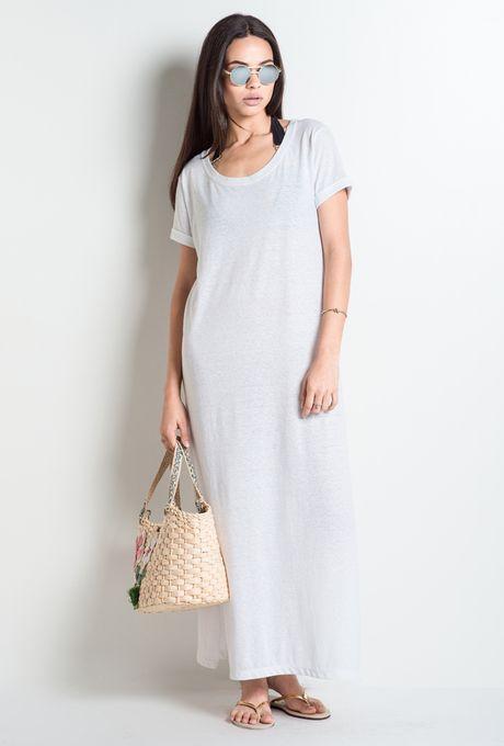 Vestido Básico Lecce Branco