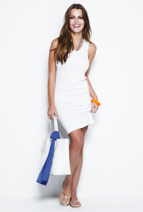 Vestido Canelado Cozumel Branco