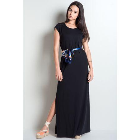 Vestido Básico Reggio Preto