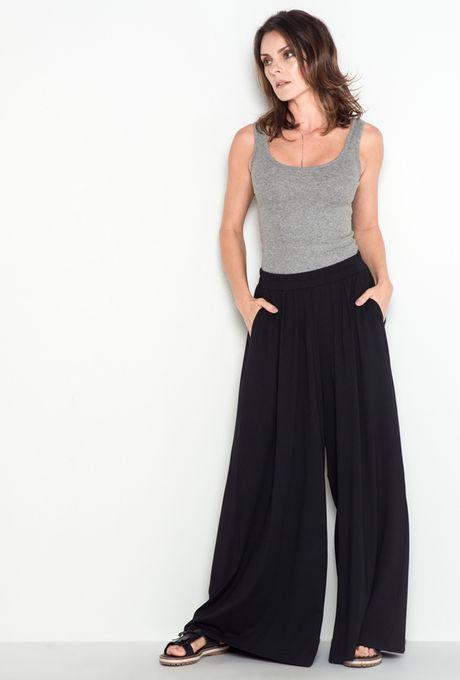 Calça Pantalona Atenas Preta