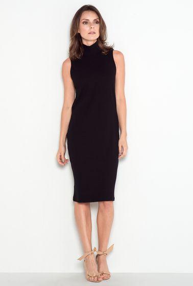 Vestido-canelado-preto