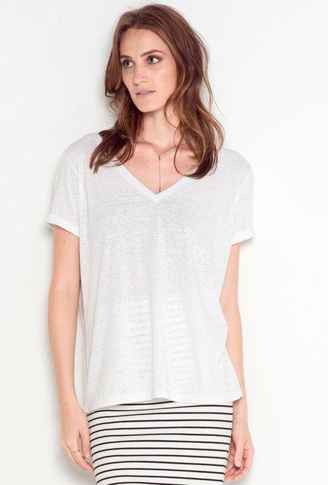 T-Shirt Básica Polônia Branca