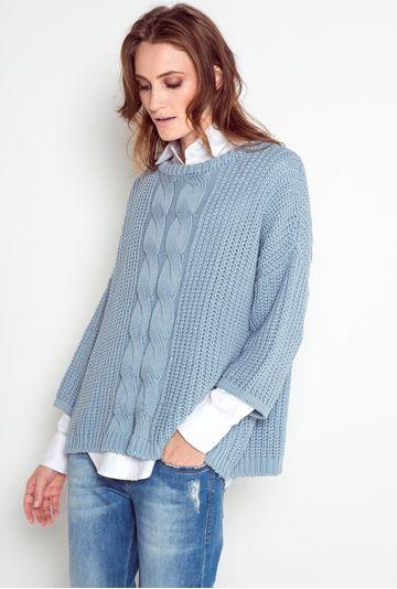 Tricot-azul-claro
