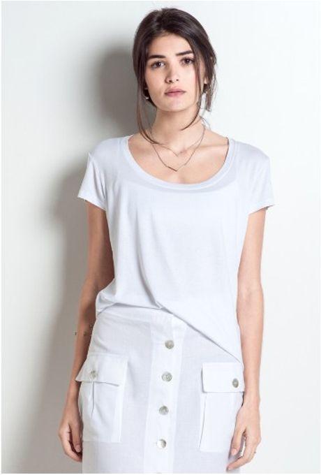 Tshirt Básica New York Branca