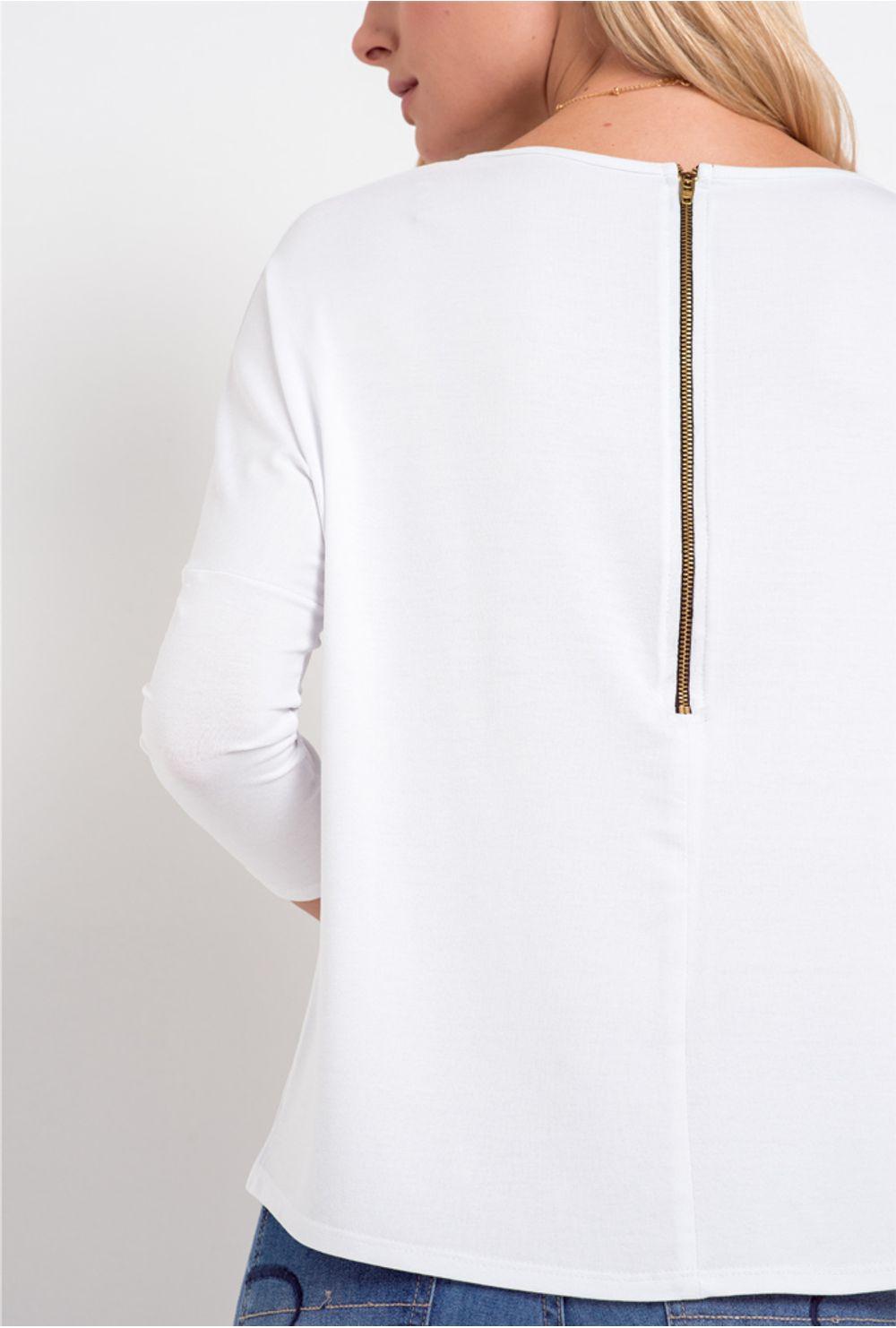 4f4631256 Blusa Básica Feminina Hungria Branca - Moda Premium - Mobile