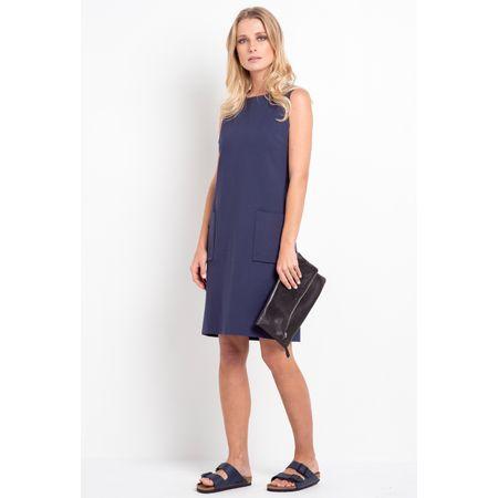 Vestido Salamanca Azul Marinho