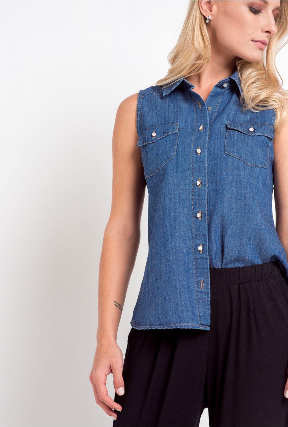 a5d7b1d79e631 Comprar Regata Básica Jeans Avelino   MyBasic - Mobile