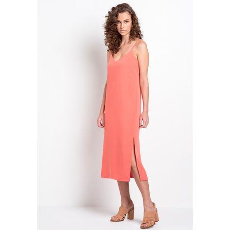 Vestido Midi Vicenza Coral