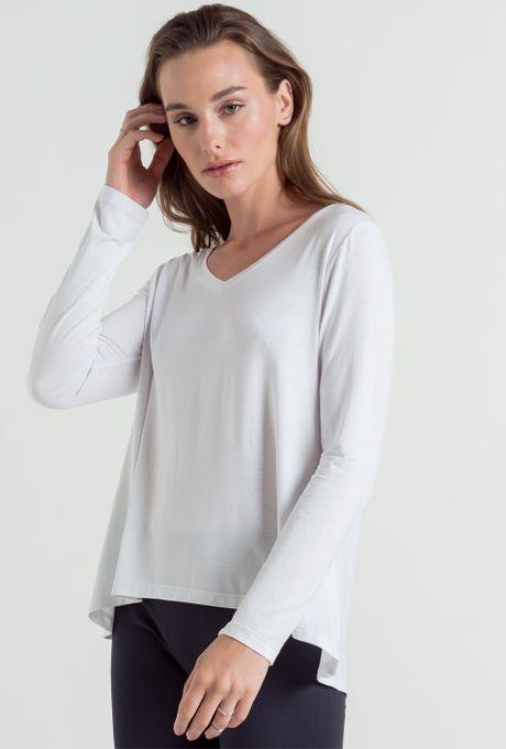 Blusa Básica Romênia Branca