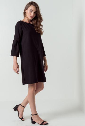 Vestido-manga-sino-Rimini-preta