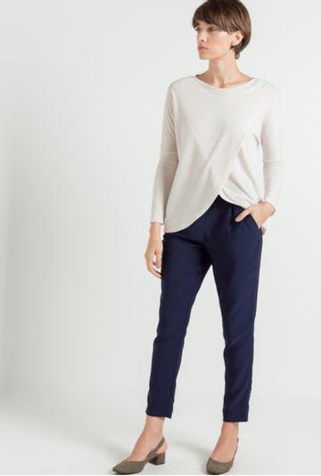 Blusa-ampla-recortes-Colmar-bege