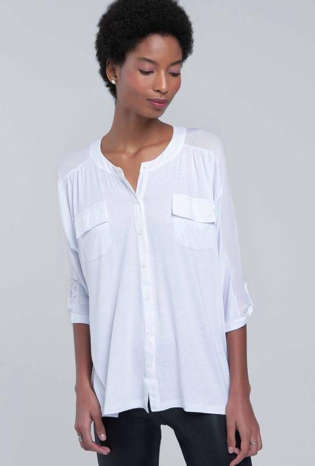 Camisa Básica Malha Bangkok Branca