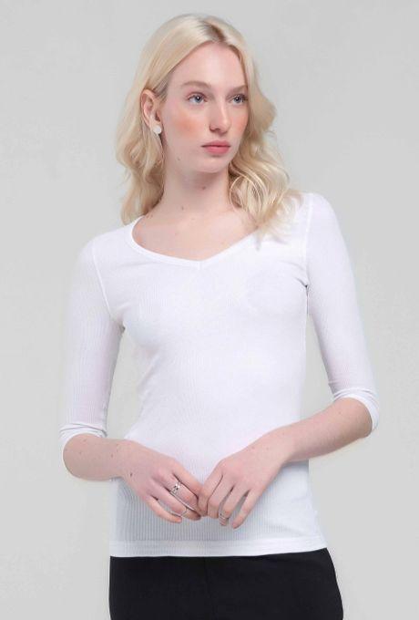 Blusa Básica Palmas Branca