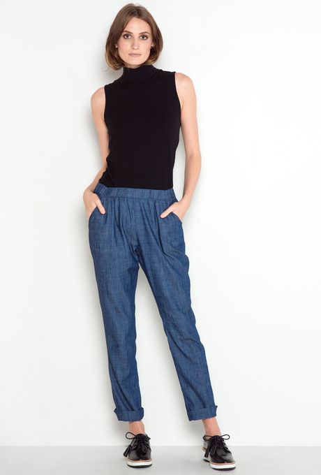 Calça Básica Jeans Polinésia