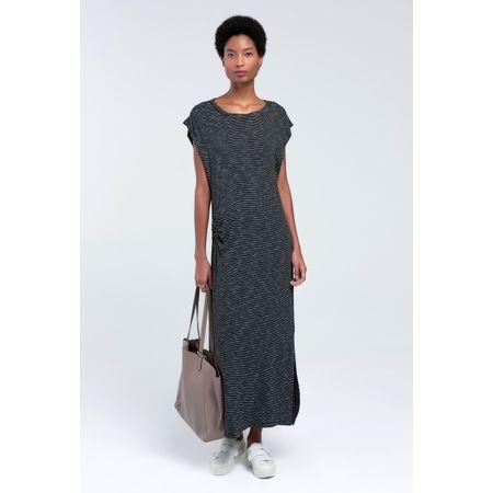 Vestido Listrado Midi Bolonia