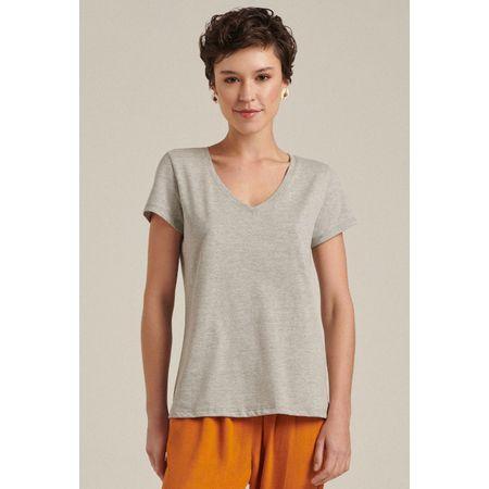 T-Shirt Básica Lima Cinza