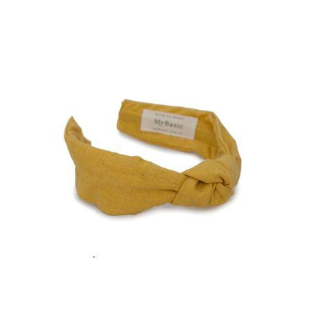 Tiara Linho Nó Amarela