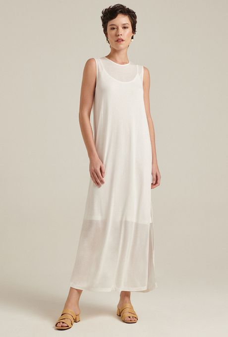 Vestido Midi Berlenga Branco