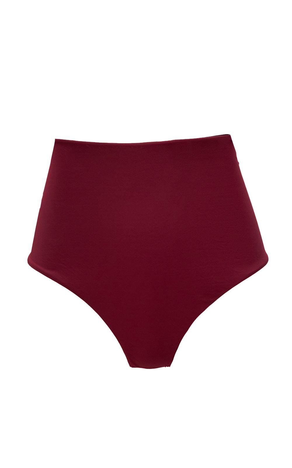 Foto 5 - Hot Pant Double Face Vermelho e Vinho