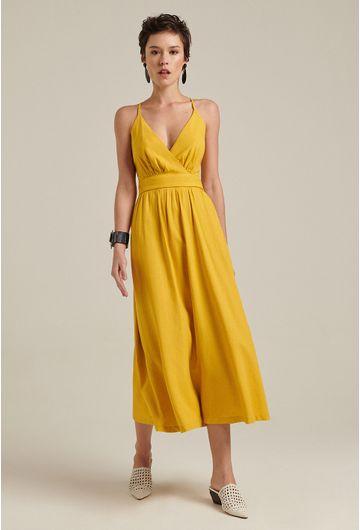 Vestido-linho-decote-amarelo-1