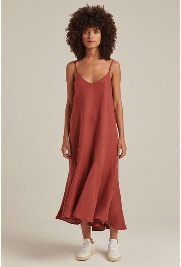 Vestido-Linho-Babado-Terracota-1