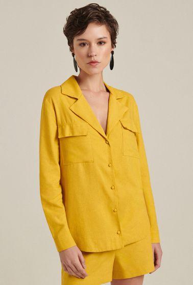 Camisa-Linho-Amarela