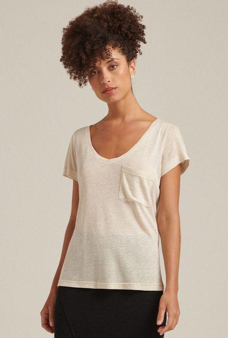 T-Shirt Linho Aruba Off White