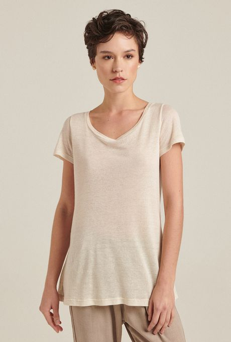 T-Shirt Linho Toledo Off White