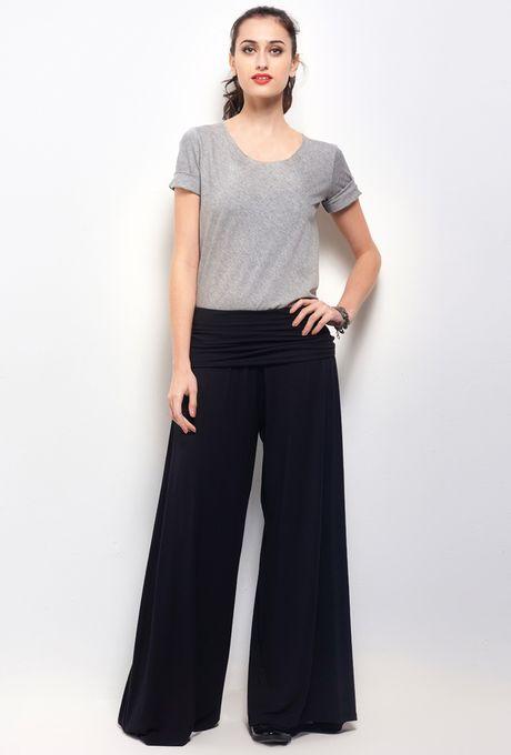 Calça Pantalona Indonésia Preta