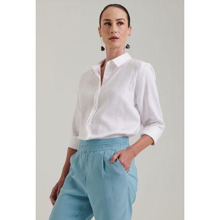 Camisa 100% Linho Lapônia Off White