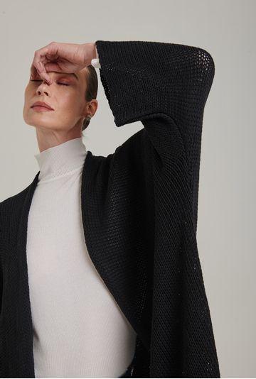Casaco-em-tricot-amplo-e-aberto-Acores-na-cor-Preta-II