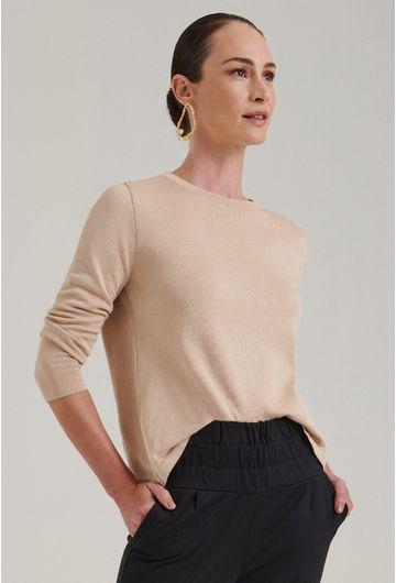 Blusa-em-tricot-com-manga-longa-lausanne-estilo-sueter-bege-detalhe