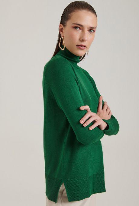 Blusa-em-Tricot-Matera-Gola-Alta-Verde-Frente