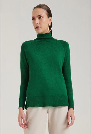 Blusa-em-Tricot-Matera-Gola-Alta-Verde-Detalhe