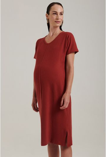 Vestido-Basico-Portofino-Midi-Algodao-Certificado-Terracota-Gestante