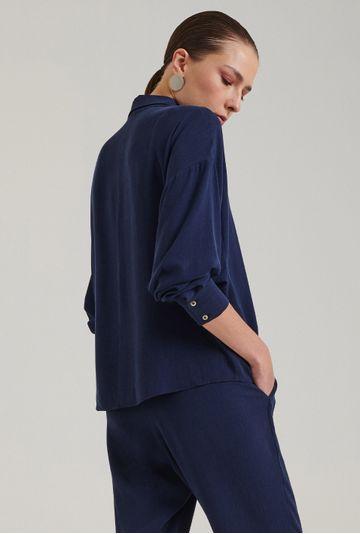 Camisa-em-Lyocell-Windsor-Com-Manga-Morcego-Azul-Morcego-Costas