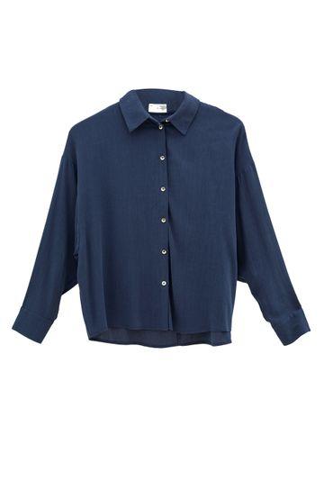 Camisa-em-Lyocell-Windsor-Com-Manga-Morcego-Azul-Morcego-Lyocell