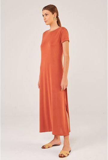 Vestido-Midi-Toulon-em-Modal-com-Fenda-Lateral-Pessego-detalhe