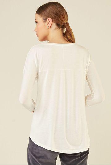 Blusa-Limoges-em-tecido-premium-com-meia-manga-e-modelagem-alongada-off-white-costas