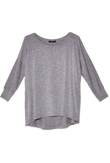 Blusa-Limoges-em-tecido-premium-com-meia-manga-e-modelagem-alongada-cinza-still