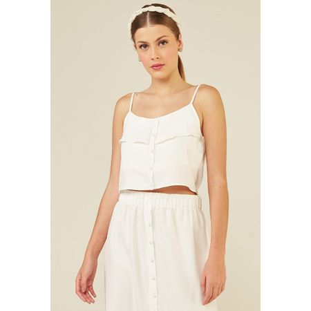 Top Cropped Modal Montepulciano Collab Comas Upcycling Off White