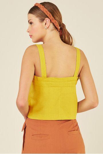 Top-Linho-Burano-Collab-Comas-Upcycling-Amarelo-costas