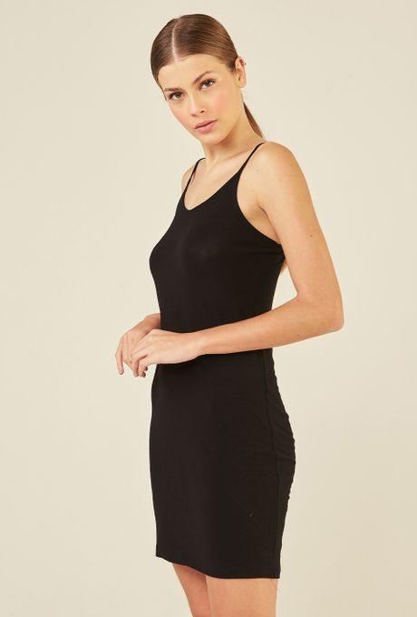 Vestido Combinação Curto Em Modal Oeiras Preto