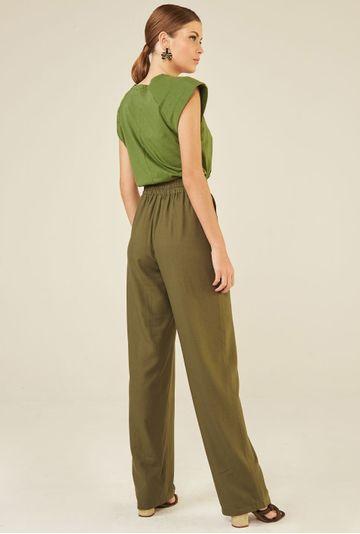 Calca-Pantalona-com-Bolso-Faca-em-Linho-Lommel-Verde-costas