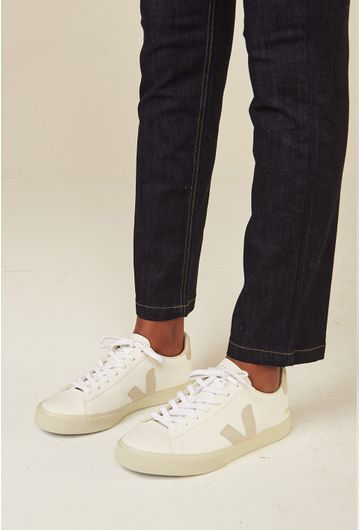 Tenis-Campo-Chromefree-Extra-White-Natural-Suede-Vert-Shoes-principal