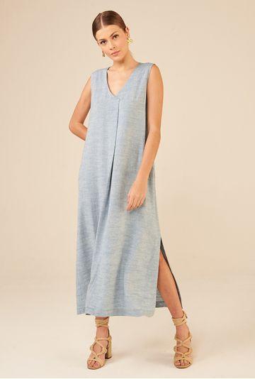 Vestido-Regata-Longo-em-Linho-Lokeren-Azul-principal