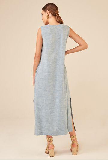 Vestido-Regata-Longo-em-Linho-Lokeren-Azul-costas