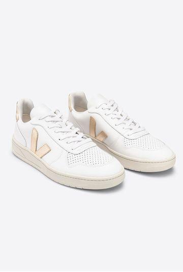 Tenis-V10-Couro-White-Platine-Vert-Shoes-detalhe